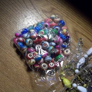 mixed .925 sterling silver bead and jewelry lot